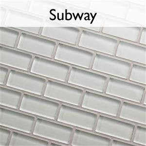 Tessera Subway Glass Stone Mosaic