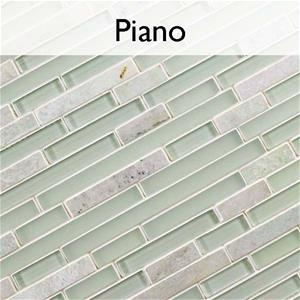 Tessera Piano Glass Stone Mosaic