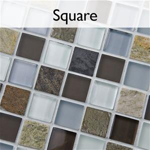Tessera Square Glass Stone Mosaic