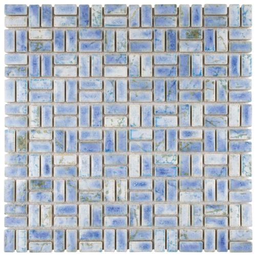 "Picture of Rustica Weave Neptune Blue 12""x12"" Porcelain Mos"