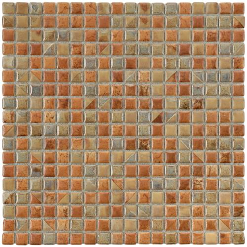 "Picture of Rustica Mini Tundra Beige 12""x12"" Porcelain Mos"