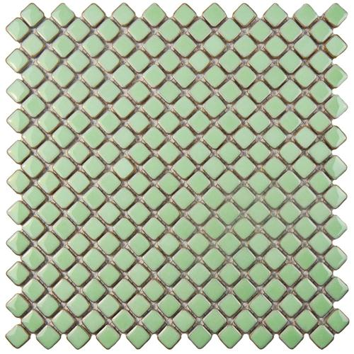 "Picture of Hudson Diamond Light Green 12-3/8""x12-3/8"" Porcelain Mos"
