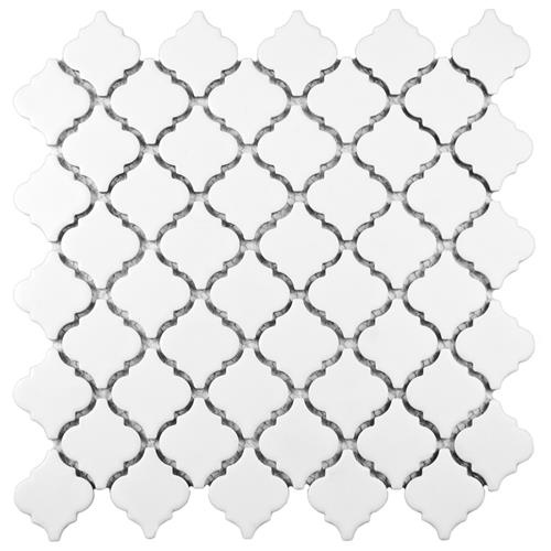 "Picture of Hudson Tangier Matte White 12-3/8""x12-1/2"" Porcelain Mos"