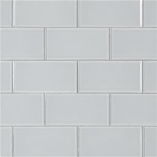 "Picture of Tessera Subway Ice White 3""x6"" Glass W Tile"