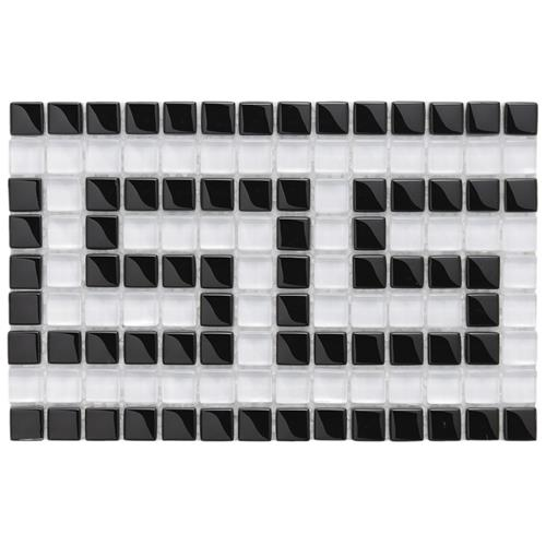 "Picture of Tessera Ice Wht Greek Key 5-7/8""x9-1/8"" Glass Mos Border"