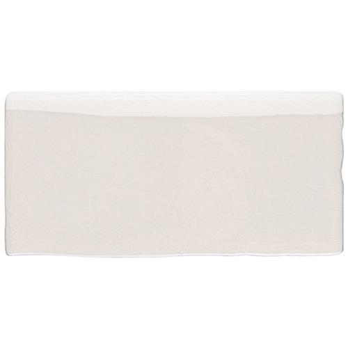 "Picture of Antic Craquelle White 2-7/8""x5-7/8"" Ceramic Bullnose W Trim"
