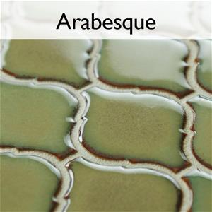 Arabesque Porcelain Mosaic Tile