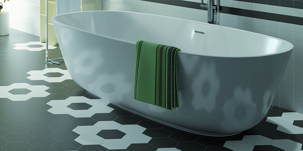 Bathroom- Hexatile Matte Nero