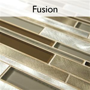 Fusion Glass and Aluminum Mosaic