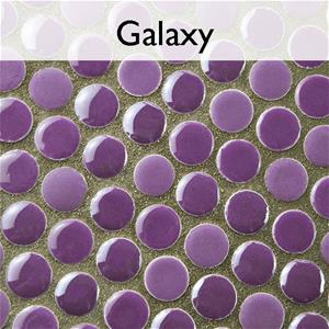 Galaxy Porcelain Penny Round Mosaic