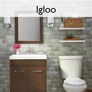 Igloo Glass Mosaic Tile