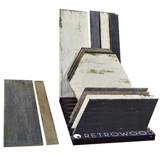 SomerTile Retro Wood Tile Display