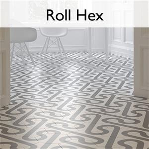 Roll Hex Porcelain Floor Tile