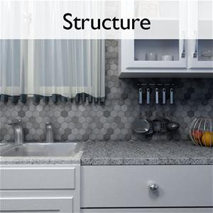 Structure Natural Stone Mosaic Tile