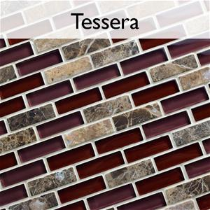 Tessera Glass and Stone Mosaic Tile