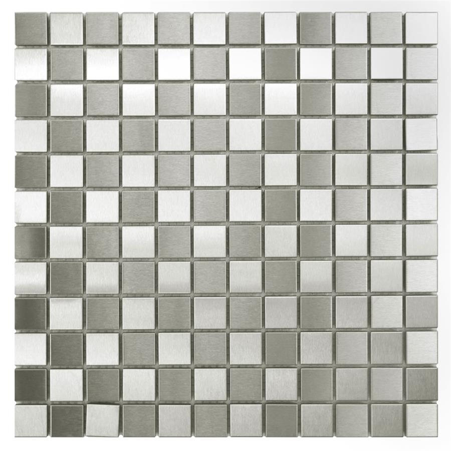 Alloy sq checkerboard 12x12 stainless steelporcelain mos dailygadgetfo Gallery
