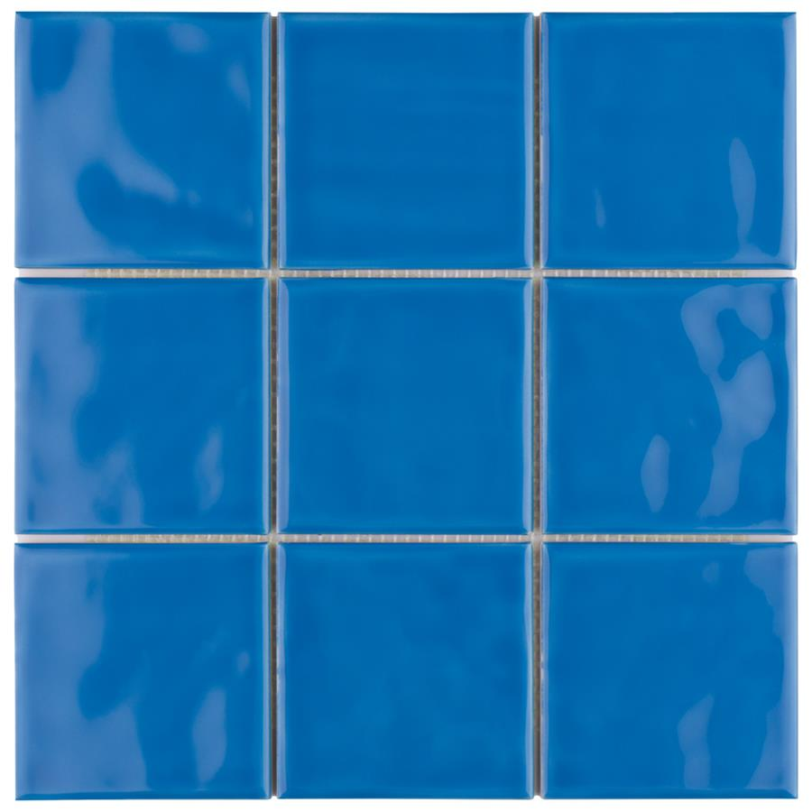 Twist Square Blue Sky 3 7 8 Quot X3 7 8 Quot Ceramic W Tile