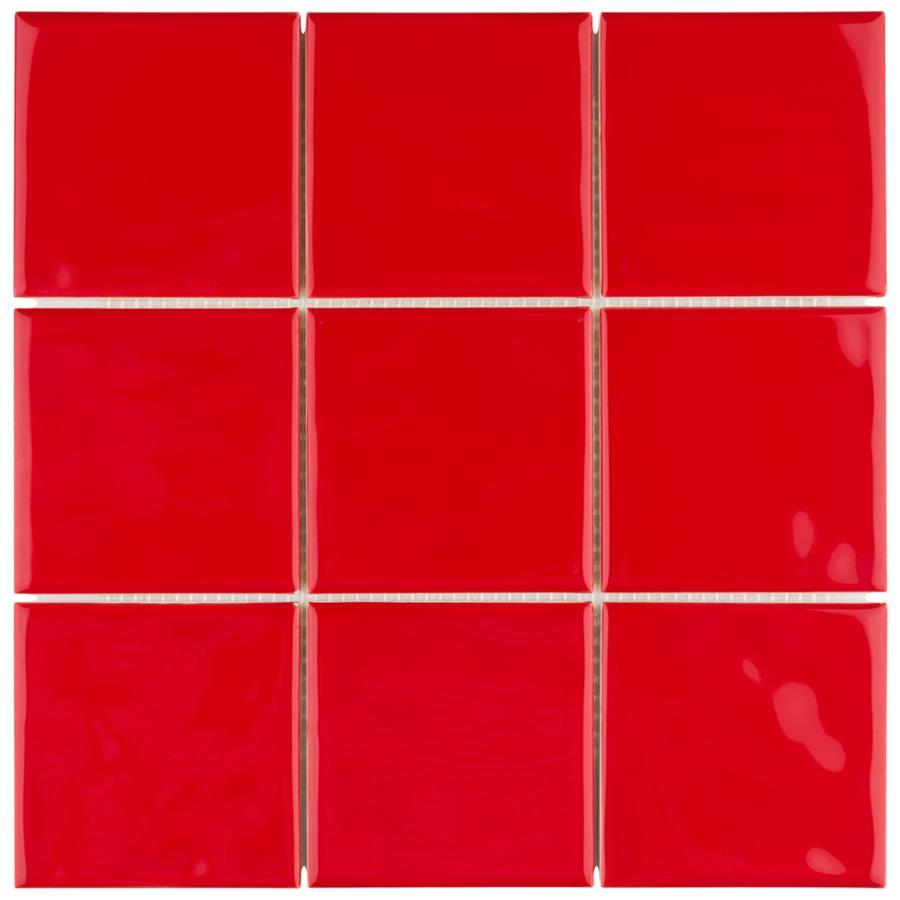 Twist square red cherry 3 34x3 34 ceramic w tile dailygadgetfo Gallery