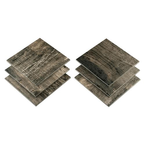 "Sabina Timber Brown 9-7/8"" x 9-7/8"" Porcelain F/W Tile"
