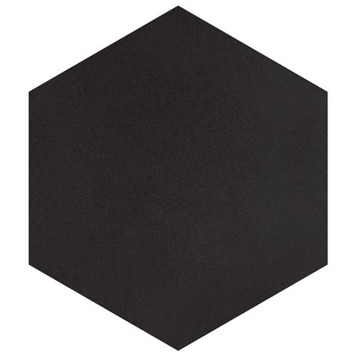 "Textile Basic Hex Black 8-5/8""x9-7/8"" Porcelain F/W Tile"
