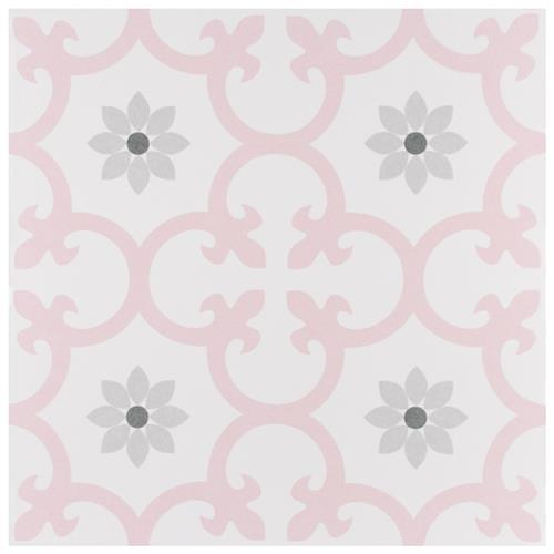 "Daria Rose 9-3/4""x9-3/4""  Porcelain Floor and Wall Tile"