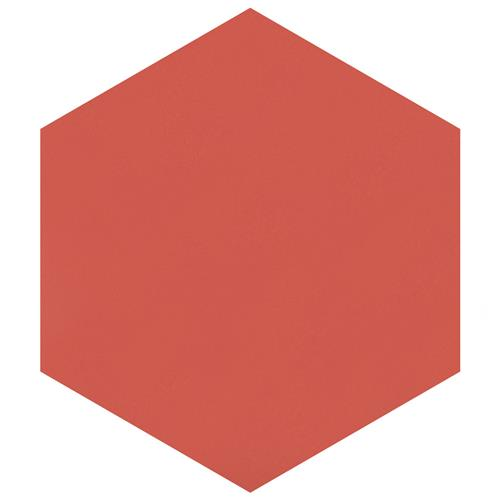 "Textile Basic Hex Red 8-5/8""x9-7/8"" Porcelain F/W Tile"