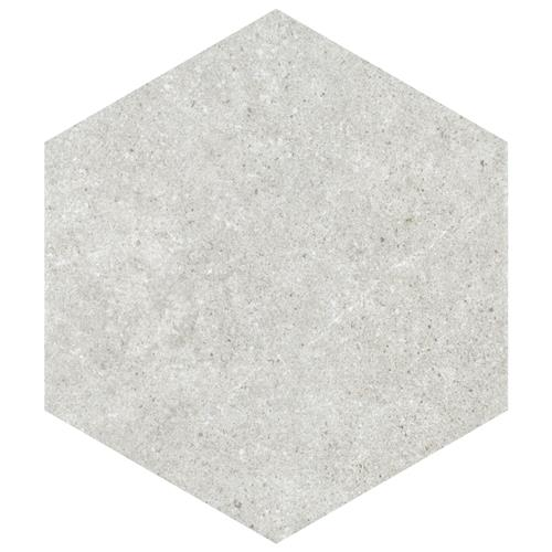 "Traffic Hex Silver 8-5/8""x9-7/8"" Porcelain F/W Tile"