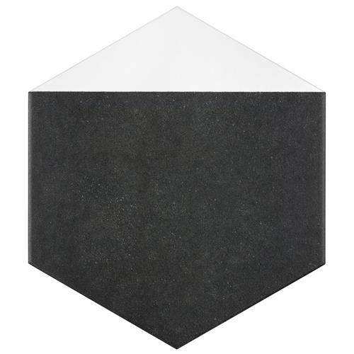 "Peak Hex Blanco 8-5/8""x9-7/8"" Porcelain F/W Tile"