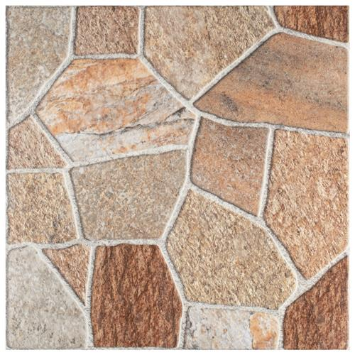 "Leticia Beige 17-3/4""x17-3/4"" Ceramic F/W Tile"
