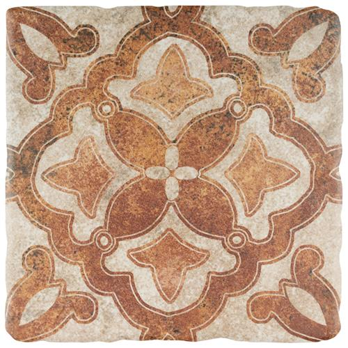 "Costa Arena 2 Decor Clover 7-3/4""x7-3/4"" Ceramic F/W Tile"