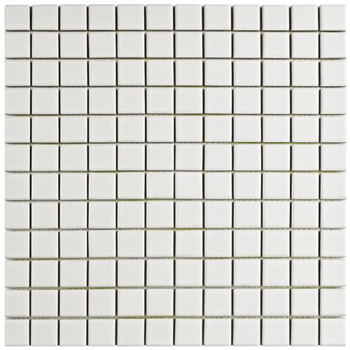 "Piscina Square Blanco Brillo 12-1/2""x12-1/2"" Porcelain Mos"