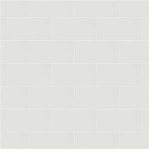 "Piscina Brick Blanco Brillo 4-3/4""x9-5/8"" Porcelain F/W Tile"