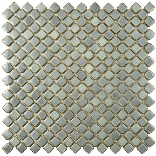 "Hudson Diamond Grey Eye 12-3/8""x12-3/8"" Porcelain Mos"