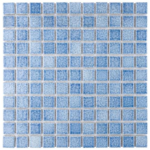 "Fountain Square Blue 12""x12"" Porcelain Mos FAN-104"
