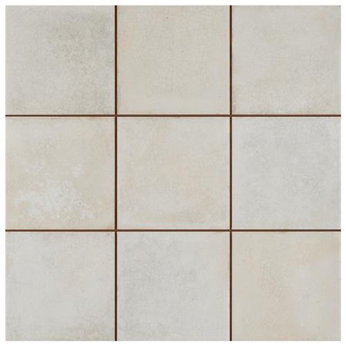 "Kings Etna White 13-1/8""x13-1/8"" Ceramic Floor/Wall Tile"