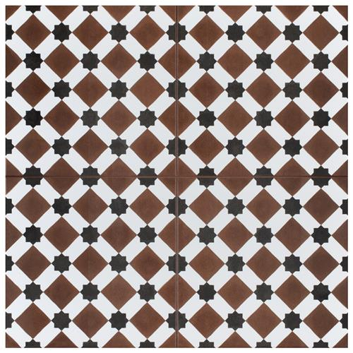 "Henley Rojo 17-5/8"" x 17-5/8"" Ceramic Floor/Wall Tile"