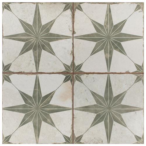 "Kings Star Sage 17-5/8""x17-5/8"" Ceramic F/W Tile"