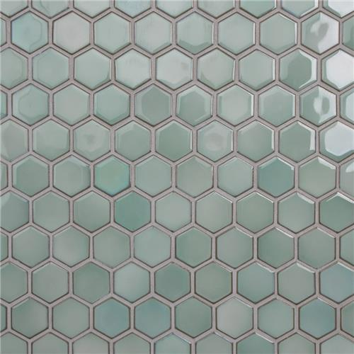 "Hudson Due Hex 2"" Mint Green 12-1/2""x11-1/4"" Por Mosaic"