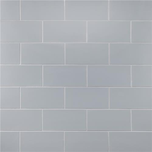 "Projectos Cloud Grey 3-7/8"" x 7-3/4"" Ceramic F/W Tile"