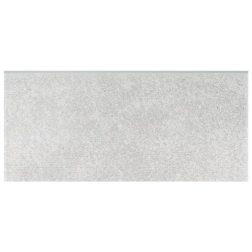 "Twenties Grey 3-1/2""x7-3/4"" Ceramic Bullnose F/W Trim"