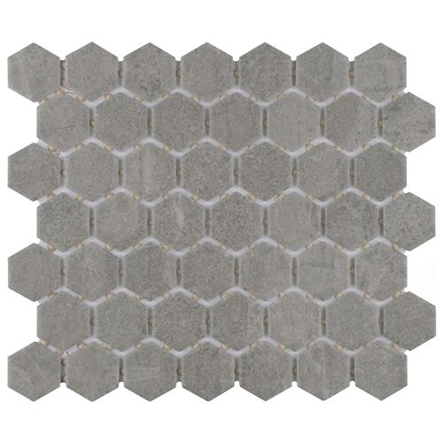 "Liverpool Hex Light Grey 10-1/4""x11-3/8"" Ceramic Mosaic"
