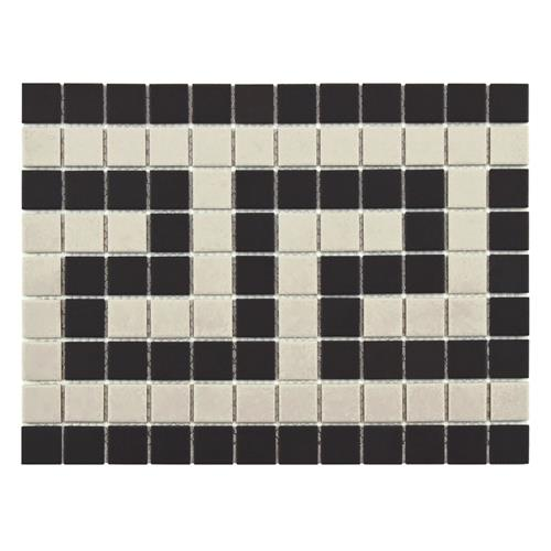 "Gotham Sq Greek Key Border 9-3/4""x13"" UnGl Porc Mos Trim"