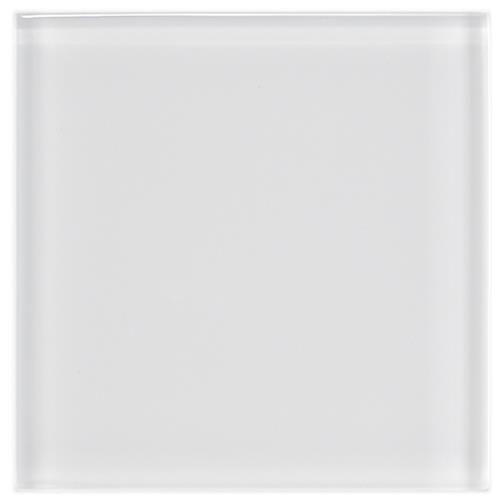 "Tessera Ice White 4""x4"" Glass W Tile"
