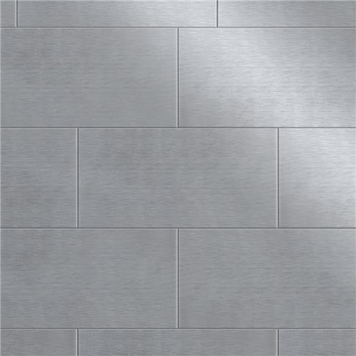 "Alloy Subway 3""x6"" Stainless Steel/Porcelain W Tile"