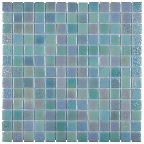 "Ruidera Sq Agua Mother of Pearl 13""x13"" Glass Mos G32025Y2"