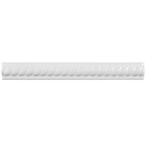 "Trenza Blanco Moldura 1""x7-7/8"" Ceramic Rope Pencil W Trim"