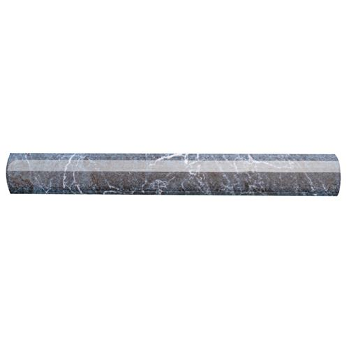 "Aroas Cigarro Gris 1""x8"" Ceramic W Trim"