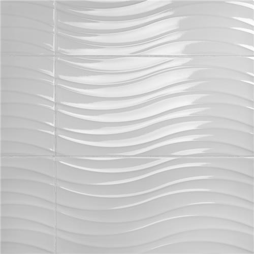 "Silueta Blanco Brillo 12-3/8""x24-7/8"" Ceramic W Tile"