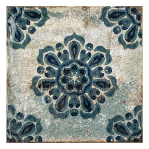 "Livorno Decor Vechio 7-7/8""x7-7/8"" Ceramic W Tile"