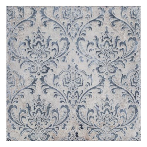 "Milano Decor Daman Azul 7-7/8""x7-7/8"" Ceramic W Tile"
